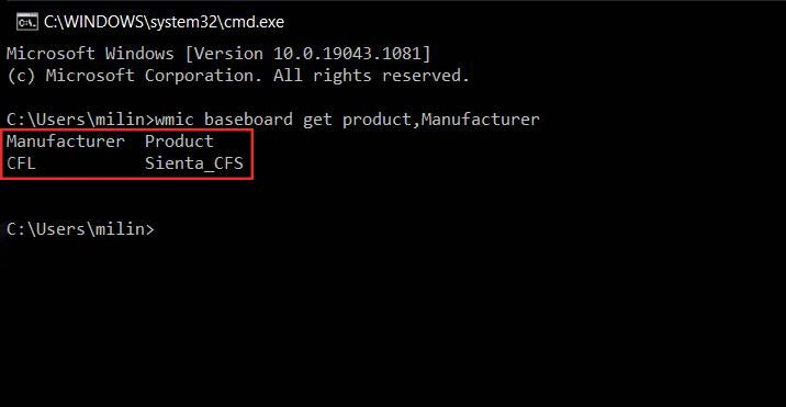 check what motherboard you have using command prompt