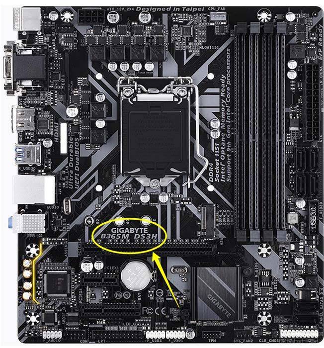 motherboard manufacturer and product name